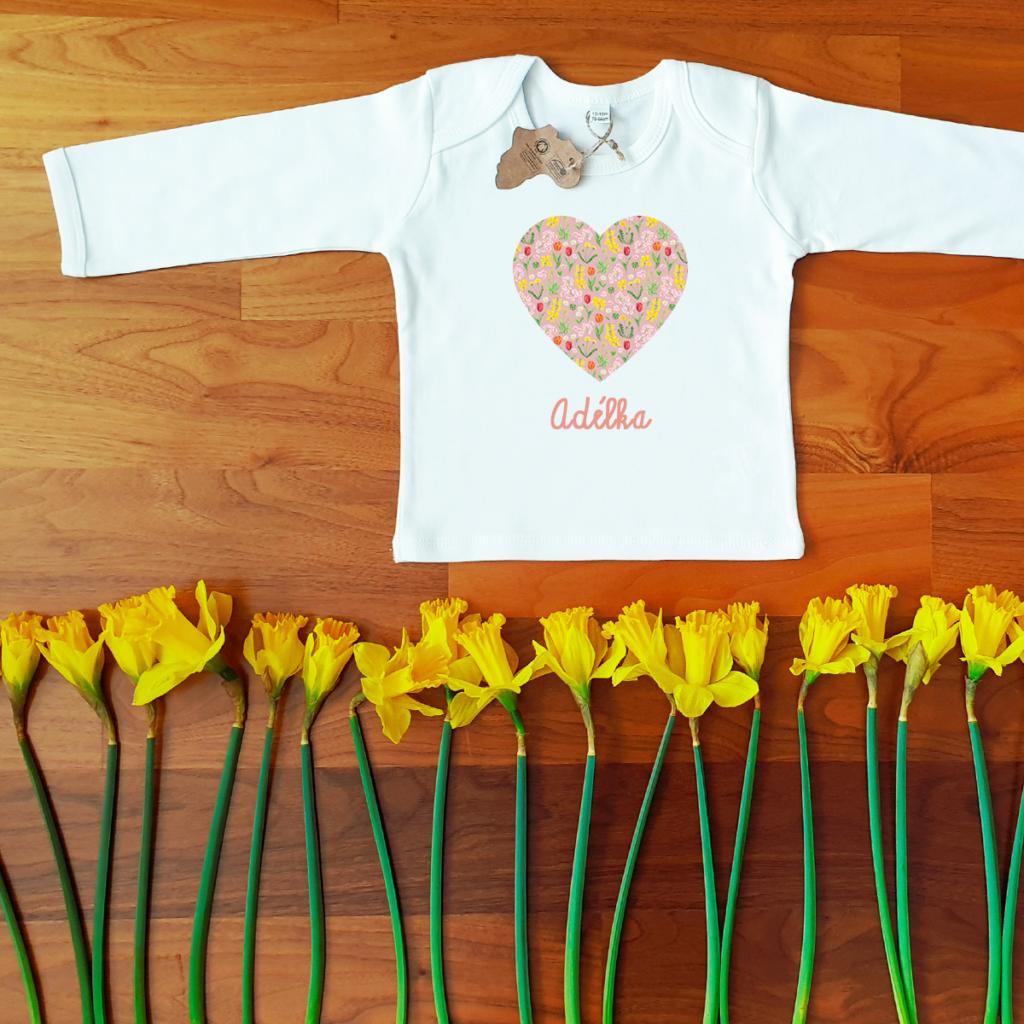 Biobavlněné tričko pro miminko