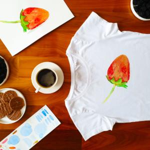 tričko s potiskem malovaného obrázku